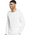 Photograph of Dickies Dynamix Men's Men's Long Sleeve Underscrub Knit Top White DK910-WHT