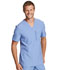 Photograph of Dickies Retro Men's V-Neck Top in Ciel Blue