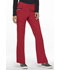 Photograph of Elle Simply Polished Women's Mid Rise Tapered Leg Drawstring Pant Red EL150-RED
