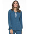 Photograph of Simply Polished Women's Snap Front Warm-up Jacket Blue EL300-CAR