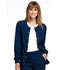Photograph of Simply Polished Women's Snap Front Warm-up Jacket Blue EL300-NAV