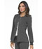 Photograph of Simply Polished Women's Snap Front Warm-up Jacket Gray EL300-PWT