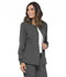Photograph of Simply Polished Women Snap Front Warm-up Jacket Gray EL300-PWT