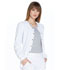 Photograph of Simply Polished Women Snap Front Warm-up Jacket White EL300-WHT
