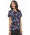 Photograph of Prints a La Mode Women's Mock Wrap Top Bouquet of Blooms EL602-BQBL