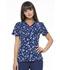 Photograph of Prints a La Mode Women's Mock Wrap Top Brush Stroke of Genius Navy EL602-BUNY