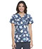 Photograph of Prints a La Mode Women's Mock Wrap Top Floral Fun Kiwi Sorbet EL602-FLKS