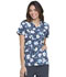 Photograph of Prints a La Mode Women Mock Wrap Top Floral Fun Kiwi Sorbet EL602-FLKS