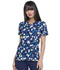 Photograph of Prints a La Mode Women Mock Wrap Top Falling Posies Navy EL602-FPNY