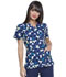 Photograph of Prints a La Mode Women's Mock Wrap Top Falling Posies Navy EL602-FPNY
