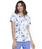 Photograph of Prints a La Mode Women Mock Wrap Top Painted Blossoms EL602-PTBO