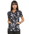 Photograph of Prints a La Mode Women's Mock Wrap Top Wings In Bloom Black EL602-WGBL