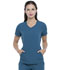Photograph of Simply Polished Women V-Neck Top Blue EL604-CAR