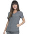 Photograph of Simply Polished Women V-Neck Top Gray EL604-HGY