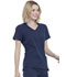 Photograph of Simply Polished Women V-Neck Top Blue EL604-NAV