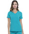 Photograph of Simply Polished Women V-Neck Top Blue EL604-TLB