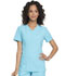 Photograph of Simply Polished Women's Mock Wrap Top Blue EL620-TRQ
