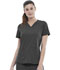 Photograph of Simply Polished Women 2-Pocket V-Neck Top Gray EL622-PWT