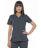 Photograph of Simply Polished Women's V-Neck Top Gray EL650-PWT