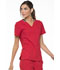 Photograph of Simply Polished Women's V-Neck Top Red EL650-RED