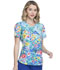 Photograph of Prints a La Mode Women V-Neck Top Hand Painted Posies EL667-HANO