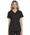 Photograph of Simply Polished Women's Eyelet V-Neck Top Black EL690-BLK
