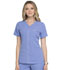 Photograph of Simply Polished Women's Eyelet V-Neck Top Blue EL690-CIE