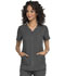 Photograph of Simply Polished Women Eyelet V-Neck Top Gray EL690-PWT