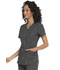 Photograph of Simply Polished Women's V-Neck Top Gray EL690-PWT