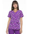 Photograph of Prints a La Mode Women's V-Neck Top J'adore L'amour Aubergine EL715-JAAU