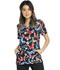 Photograph of Prints a La Mode Women's Shaped V-Neck Top Let's Just Wing It EL760-LEJW