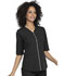Photograph of Simply Polished Women Zip Up Top Black EL770-BLK