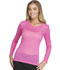 Photograph of HeartSoul Underscrub Knit Tees Women's Heart On Her Sleeve Underscrub Tee Pink HS612-LOPK