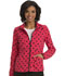 Photograph of HeartSoul Prints Women's Zip Front Warm-up Jacket Kiss and Tell HS618-KSTE