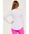 Photograph of HeartSoul Underscrub Knit Tees Women's Friyay Long Sleeve Underscrub Knit Tee White HS625-WHT