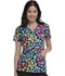 Photograph of HeartSoul Prints Women's V-Neck Top Rainbow Roar HS629-RABW