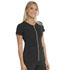 Photograph of Love Always Women's Amorous Zip Front V-Neck Top Black HS655-BAPS