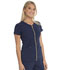 Photograph of Love Always Women's Amorous Zip Front V-Neck Top Blue HS655-NYPS