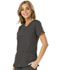 Photograph of Break on Through Women's Love 2 Love U V-Neck Top Gray HS660-PEWH