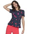 Photograph of HeartSoul Prints Women's Shaped V-Neck Top Love's In Bloom HS671-LVIB