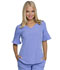 Photograph of Break on Through Women Mock Wrap Top Blue HS740-CILH