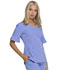 Photograph of Break on Through Women's Mock Wrap Top Blue HS740-CILH