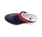 Photograph of Clog Women PEAK Navy with Red and White Sole PEAK-NVRW