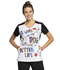 Photograph of Licensed Prints Women V-Neck Top A Better Life TF608-PNET