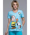 Photograph of Licensed Prints Women's V-Neck Top Chill Charlie Brown TF618-PNUT