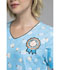 Photograph of Cherokee Licensed Women's V-Neck Top Chill Charlie Brown TF618-PNUT
