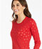 Photograph of Cherokee Licensed Women's Long Sleeve Underscrub Knit Tee Red TF621-MKER