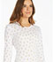 Photograph of Cherokee Licensed Women's Long Sleeve Underscrub Knit Tee White TF621-MKEW