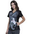 Photograph of Licensed Prints Women V-Neck Knit Panel Top Ursula TF622-VIUR