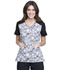 Photograph of Licensed Prints Women's V-Neck Top with Welt Pockets Charlie Brown TF624-PNIE